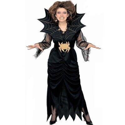 Schwarze Witwe SPINNEN Frau Damen Kostüm Spider lady Gr. S, M, L, XL, (Spider Lady Kostüm)