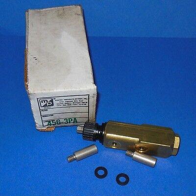Master Pneumatic .3 Npt Lubricator Valve 456-3pa New In Box