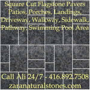 G684 Granite Square Cut Flagstone Indian Stone Patio Flagstone