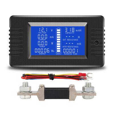 Digital Dc Voltmeter Ammeter Voltage Ampere Power Energy Soc Meter 0-200v 300a