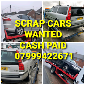 SCRAP CARS WANTED CASH PAID TODAY