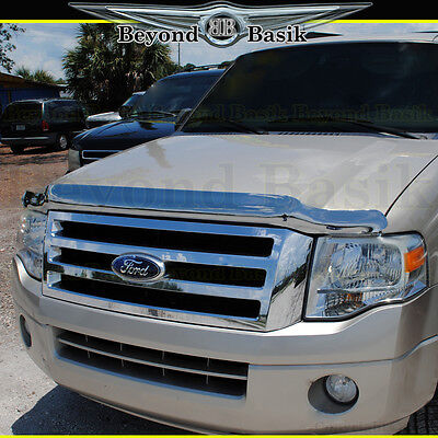 2007-2014 Ford Expedition Chrome Bug Shield Deflector Hood Guard Protector