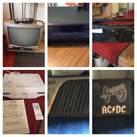"""Kenwood 5 disc CD player,getto blaster,13"""" tv/remote,more"""