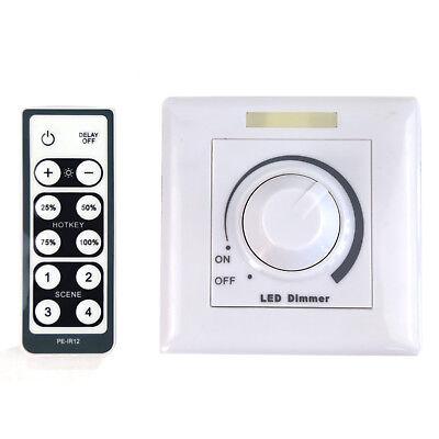 LED Dimmer 0-10V Drehdimmer mit Fernbedienung dimmbar Schalter Helligkeitsregler ()
