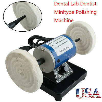 Dental Lab Minitype Polishing Machine Denture Lathe System 110v 220v Us Ship