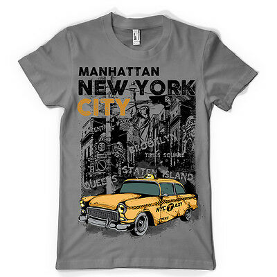 new york city manhattan taxi urban street dtg tee kids MENS t SHIRT ts6