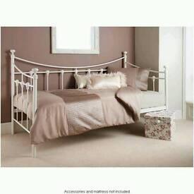 2 x White Bordeux Day Bed Frame Single