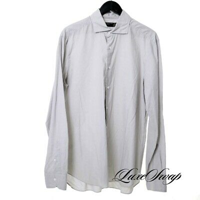 Barba Dandylife Made Italy Pearl Grey Crinkled Lightweight Button Down Shirt 17