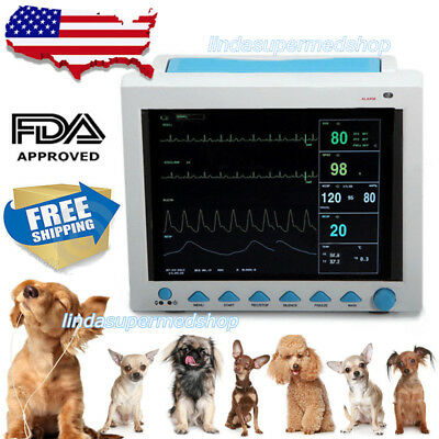 Vet Veterinary Icu Vital Signs Patient Monitor6parameters 12.1color Ce Fda Us