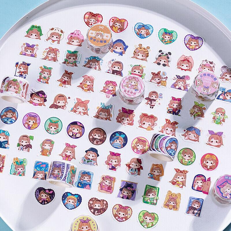 Kawaii Girls Washi Tape Diary Planner Journal Diy Decorative Stickers Stationery