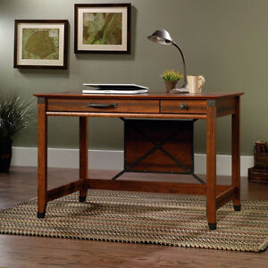 NEW Sauder Carson Forge Writing/Computer Desk, Cherry Finish