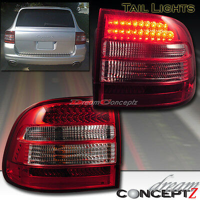03-06 PORSCHE CAYENNE TURBO S LED TAIL LIGHTS L.E.D SUPER BRIGHT All Models Red