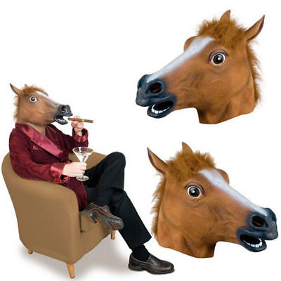 Horse Masks (New Horse Head Mask Latex Prop Style Toys Party)