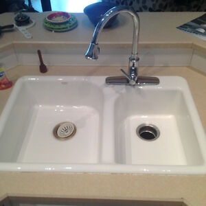 Porcelain kitchen sink