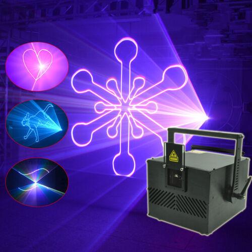 5W ILDA RGB Fullcolor Animation Scan DMX DJ Party Stage Laser Projector Lights B