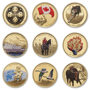 Full 2010 $75 Vancouver Olympics Gold 9 Coin Set + COAs & Case