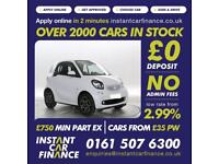 Smart fortwo 1.0 ( 70bhp ) ( s/s ) 2015MY Prime FROM £33 PER WEEK