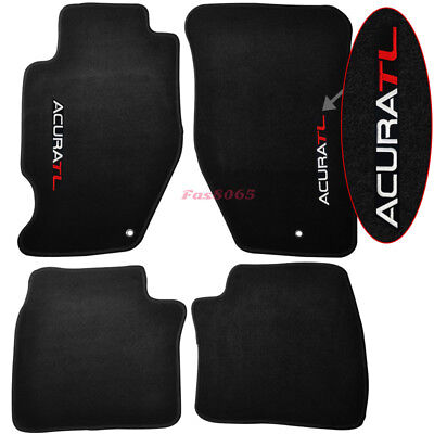 Fits 99-03 Acura TL 4Dr Floor Mats Carpet Nylon Black 4PC W/Embroidey Front Rear