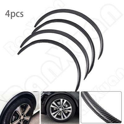 4PCS Carbon Fiber Look Auto Wheel Eyebrow Arch Lips Strip Fender Flare Protector