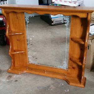 Solid wood framed mirror.