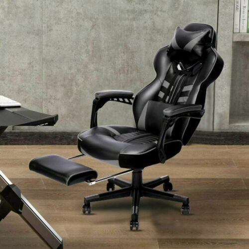 High Back Gaming Swivel Chair With Footrest