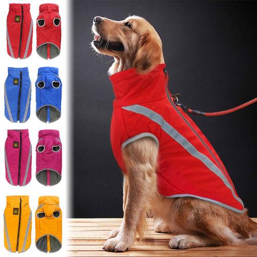 Hundemantel Wasserdicht Fleece Futter Hundejacke für Mittlere und Große Hunde