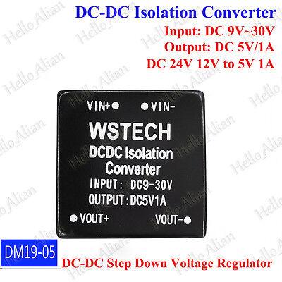 Dc-dc Buck Step Down Isolated Converter 9v 12v 24v To 5v 1a Power Supply Module