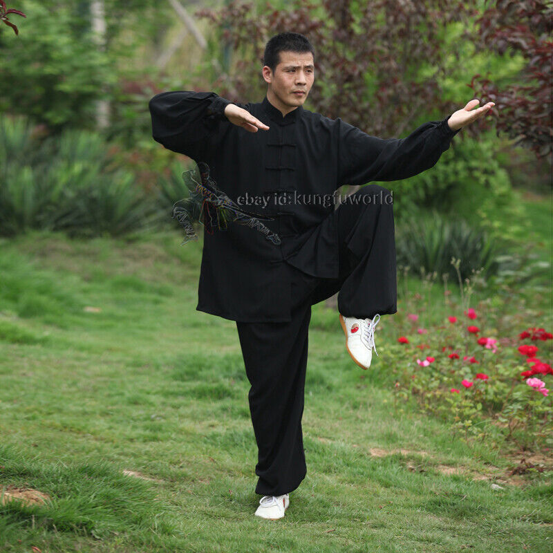 как выглядит Одежда, обувь или аксессуар для боевых искусств Soft Cotton Kung fu Tai chi Uniform Martial arts Wushu Taiji Wing Chun Suit фото