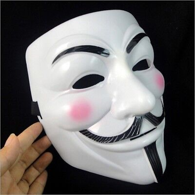HOT SALE!!! V for Vendetta Mask Adult Mens Guy Fawkes Anonymous Occupy Halloween - Hot Halloween Guys
