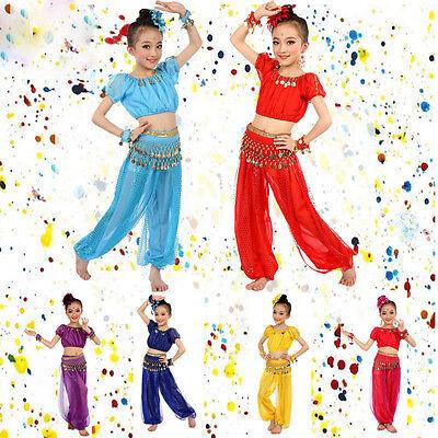 Handmade Kids Girl Egypt Dance Costumes Belly Dancing Clothes Halloween Dresses](Dance Costumes Halloween)