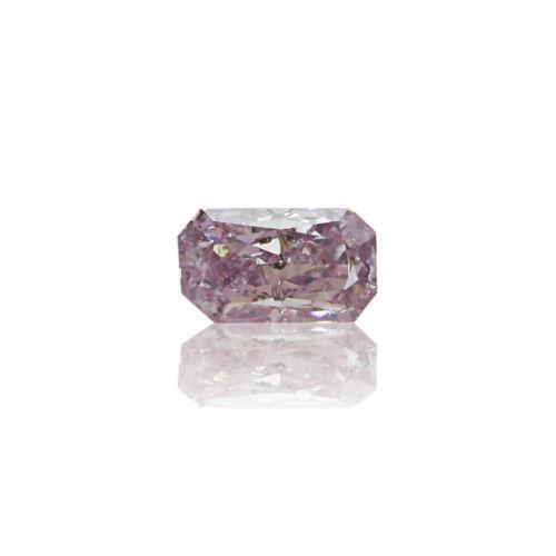 Fancy Pink Diamond Natural 0 .11 Ct GIA Certified Radiant Cut Purplish Real