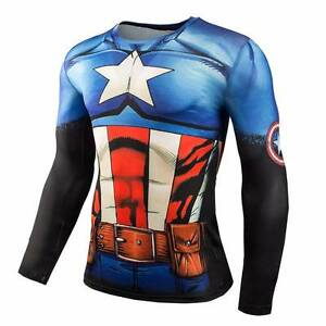 All Super Heroes Bodybuilding Long Sleeve TShirt Buy 1 GET 1 FREE Sydney City Inner Sydney Preview