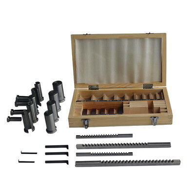 22pcs Keyway Broach Bushing Shim Set Metric System 12-30 Hss Keyway Tool For Cnc