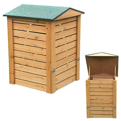 Greenfingers Wooden Hinged Compost Bin apex roof stylish natural eco friendly