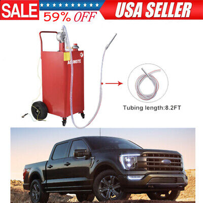 35 Gallon Gas Oil Fuel Diesel Caddy Transfer Portable Tank Wpump Container Red