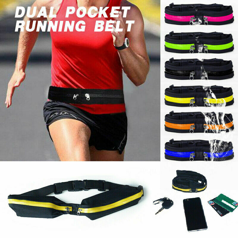 More Mile Running Waist Belt Adjustable Compact Lightweight Sports Pouch Bag