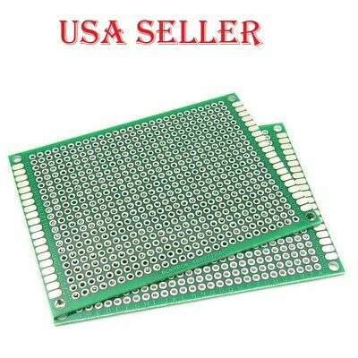 1pc 6x8cm Double Sided Prototype Pcb Universal Printed Circuit Board For Arduino