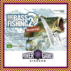 Big Catch Bass Fishing 2 Bundle (Nintendo Wii) Brand New