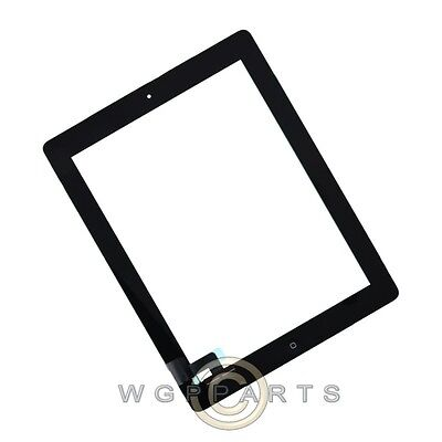Digitizer & Home Button Assembly for Apple iPad 2 Black Navigate Key Front Glass