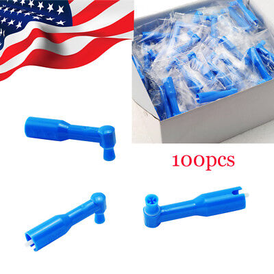 100pcs Dental Supplies Prophy Angles Soft Cup Latex Free Fit Straight Handpiece