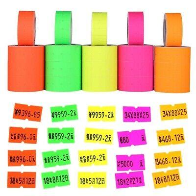 Colorful 500pcsroll Price Label Paper Tag Mark Sticker For Mx-5500 Labeller Gun
