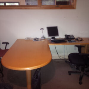 Office furniture and Conference Table.