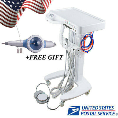 Mobile Dentist Use Dental Delivery Unit Cart 4 Hole Polishing Handpiece Us Ship