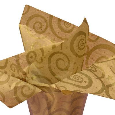 Gold Stars Tissue Paper - Gold
