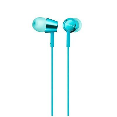 SONY MDR-EX155 Closed Dynamic In-Ear Headphones Light Blue NEW from Japan F/S