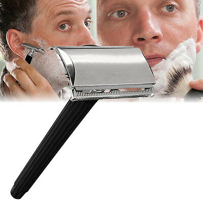 Edelstahl-Handbuch Shaver Double Edge Blade-Sicherheits-Rasiermesser Neu (Double Edge Messer)