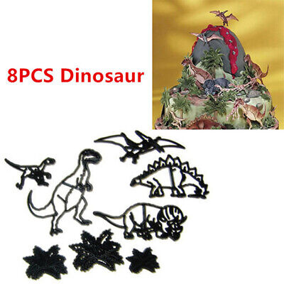 Serie Cookie (8pcs Dinosaur series Plastic Silhouette Cookie Cutter Cake Biscuit Mold Cut Kw)