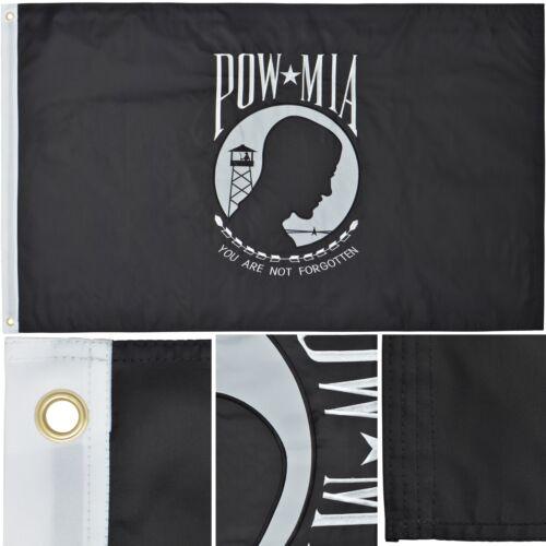 POW MIA Flag 3' x 5' Ft 210D Nylon Premium Outdoor Embroider