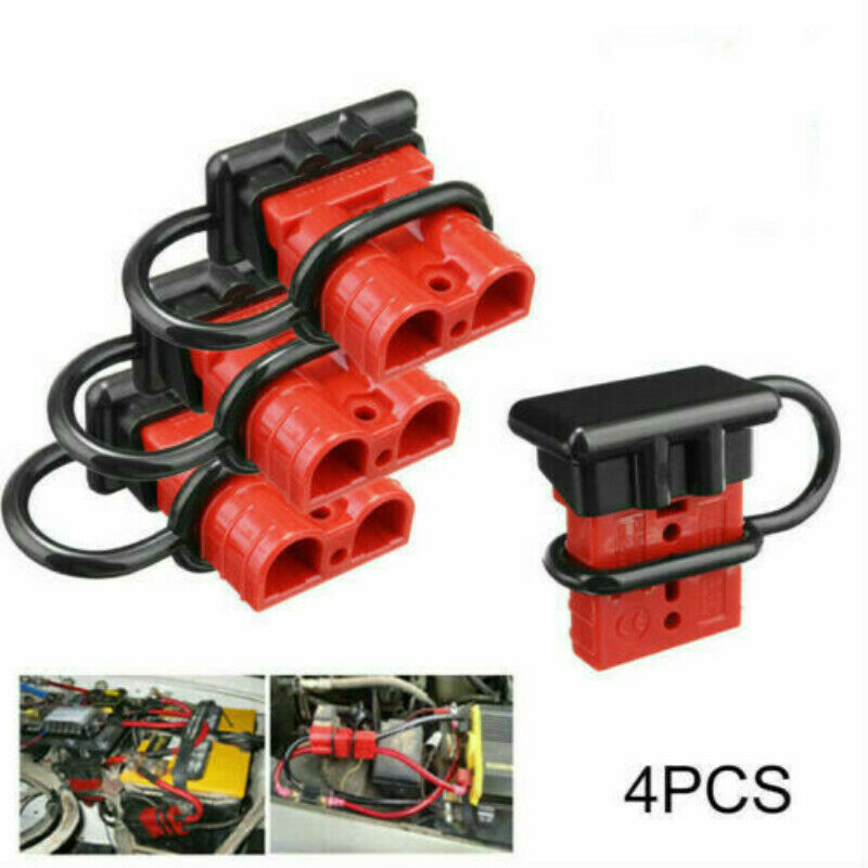 2x50A 600V car battery quick connect disconnect power wire cable`connectors plug