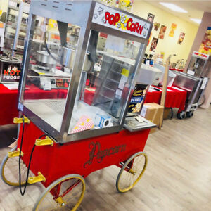 ATTRACTIVE COMMERCIAL POPCORN MACHINES AND CARTS FOR SALE / RENT